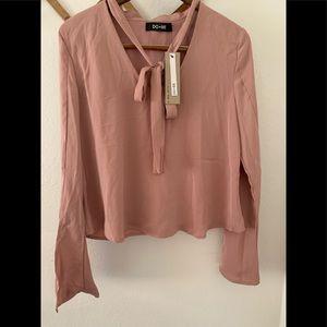 Long sleeve mauve/pink blouse